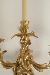 Suite de quatre appliques de style Louis XV, époque Napoléon III (1848 - 1870).