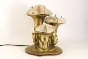 Lampe en bronze et corail de Duval Brasseur