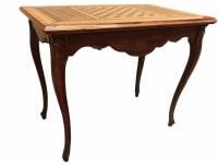 Table à jeux 18ème siècle de style Louis XV en noyer Travail Grenoblois