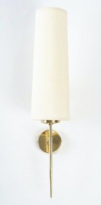 1950 Paire d'appliques Maison Arlus en laiton doré