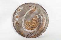 Grand plat par Alexandre Kostanda (1921 - 2006 ), céramique année 50