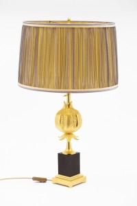 Maison Charles, Lampe Grenade en bronze doré, vers 1970