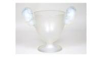 """René Lalique Vase """"Béliers"""" en verre opalescent"""