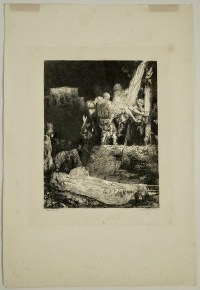 Steel Engraving from the 19th Century of Rembrandt by Francesco Novelisme, 1892.