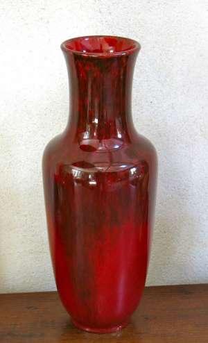Très beau vase  rouge sang de boeuf, flammé, signé  PAUL  MILLET       SÈVRES