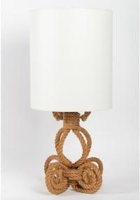Paire de lampes en corde Adrien Audoux et Frida Minet  1950