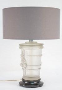 """Paire de Lampes par Marc Lalique""""Putti"""""""