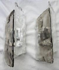 1960/70′ Paire d'Appliques En verre Bicolore Kalmar