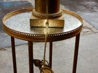 1950/70 Lampe A l Ananas en Bronze en Laiton Signée Charles & Fils