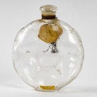 """Flacon """"Relief"""" verre blanc de René LALIQUE pour FORVIL"""