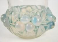 """René Lalique Opalescent Vase """"Prunes"""""""