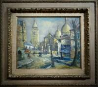 BESSE Raymond Peinture Française 20è siècle Paris Montmartre La Place du Tertre Huile sur toile signée