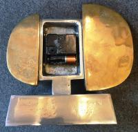Pendule by David Marshall, 1970's, aluminium et laiton