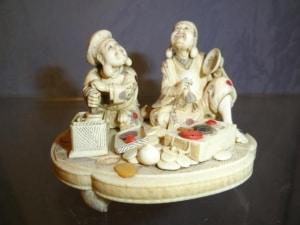 SCULPTURE JAPONAISE : Dieu du bonheur - Fin 19 ème