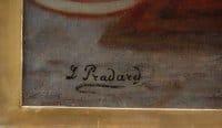 """""""CLEOPATRE"""" HUILE SUR TOILE SIGNEE EN BAS A GAUCHE L.PRADARD, CIRCA 1860"""
