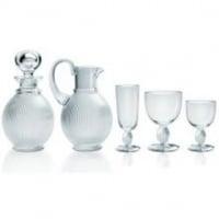 """Lalique Service """"Langeais"""" 24 pièces & Broc et Carafe"""