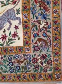 Tapis Laine et Soie Trame Soie Ispahan Iran Vers 1970 Epoque Du Shah