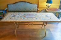 Table de salle à manger en pierre des années 80