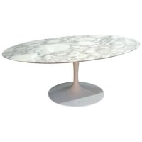 "Eero Saarinen & Knoll International - table basse ovale ""tulipe"" en marbre"