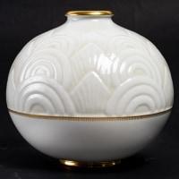 Vase boule porcelaine émaillée de SEVRES décor de Marcel PRUNIER