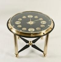 1950 Rare Jacques Adnet Marine Clock Gueridon