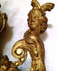 Miroir d'époque Régence, bois sculpté et doré, France, première moitié du XVIIIe siècle