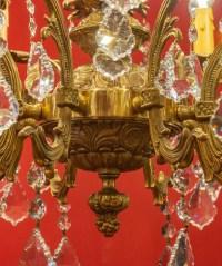 Lustre  en bronze à 12 lumières, Louis XV, début XXème siècle