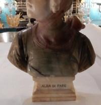 1900' Buste Albatre Alba Di Pace
