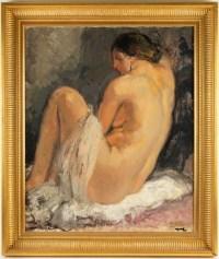 Portrait d'un nu, école française XIXème.