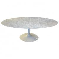 Knoll & Eero Saarinen : Table Tulipe Ovale Marbre