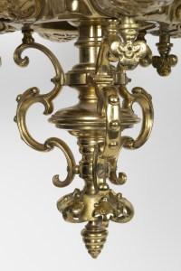 Lustre en bronze doré à 6 lumières époque Napoléon III