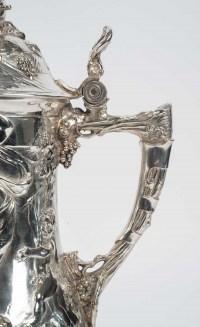 Grand pichet à bierre WMF en métal argenté