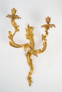 Paire d'appliques de style Louis XV.