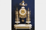 A Louis XVI (1774 - 1793) period portico clock