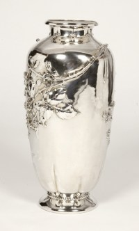 Silver vase by A.AUCOC era ART NOUVEAU