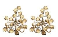 Paire d'appliques Grapevine des années 1960 Maison FlorArt