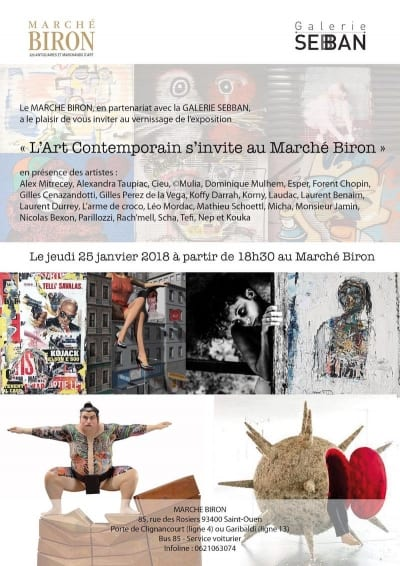 Exposition L'Art Contemporain s'invite au Marché Biron||