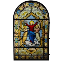 Vitrail Assomption de la Vierge Atelier LORIN