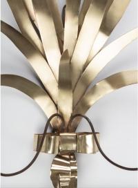"""1960 Grande Paire d'Appliques """"Bouquet de joncs"""" Maison FlorArt"""