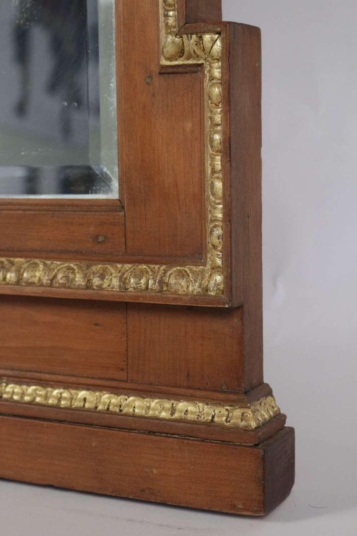 Le march biron miroir en bois et stuc dor de forme for Miroir graphique
