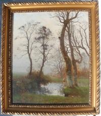 une huile sur toile, paysage signé Rapin