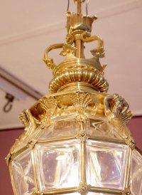 Lanterne en bronze doré