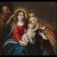 Le mariage mystique de Sainte Catherine – Entourage de Daniel Seghers