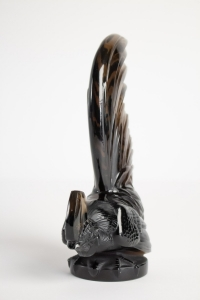 René LALIQUE (1860- 1945) Mascotte  « Coq Nain » Topaze