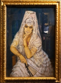 Sevillane à l'éventail de Marie Aimée Coutant