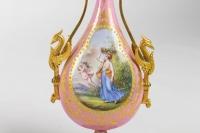 Paire de vases en porcelaine et bronze époque Napoléon III