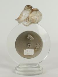 """René Lalique  pendulette 8 jours """"pierrot"""""""
