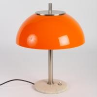 Lampe champignon en perspex et marbre vers 1960 Italie