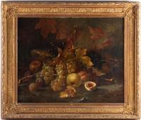 Tableau de H.VELTEN Nature morte aux Fruits XIXème