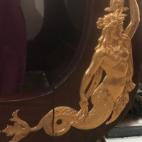 Paire de lit en acajou et bronze doré, époque empire. Ref: 152.